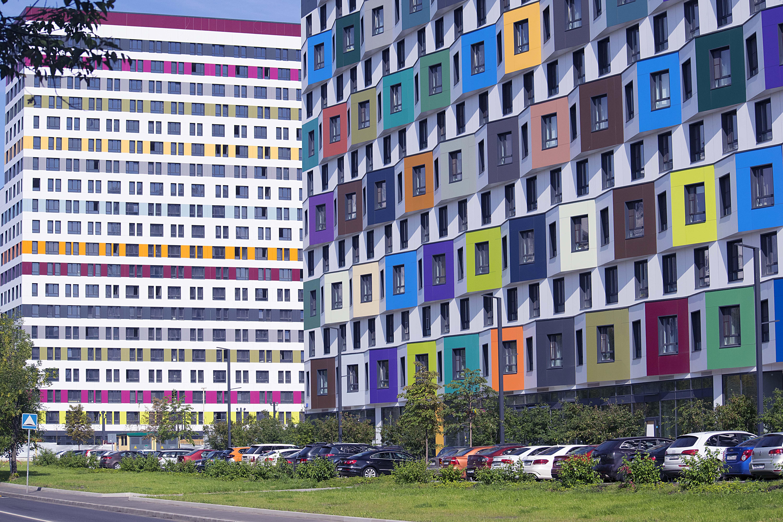 Вид на жилой комплекс ГК «ПИК» Green park в Москве