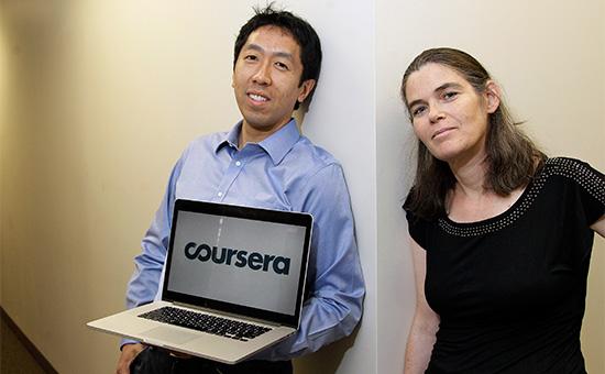 Основатели Coursera Эндрю Ын иДафна Коллер