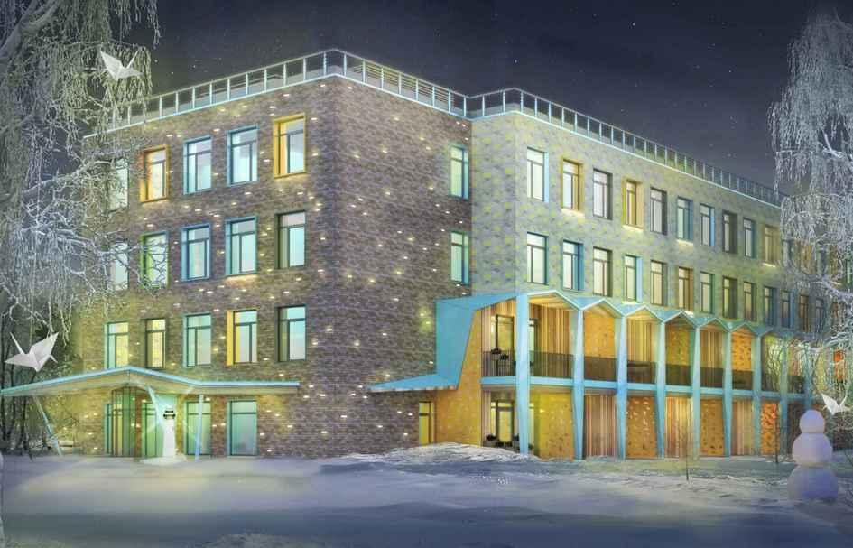 В стенах здания междукирпичами вмонтируют светильники, включающиеся тольконочью. Так здание получит неповторимую иллюминацию, которая ассоциируется сНовым годом идругими праздниками