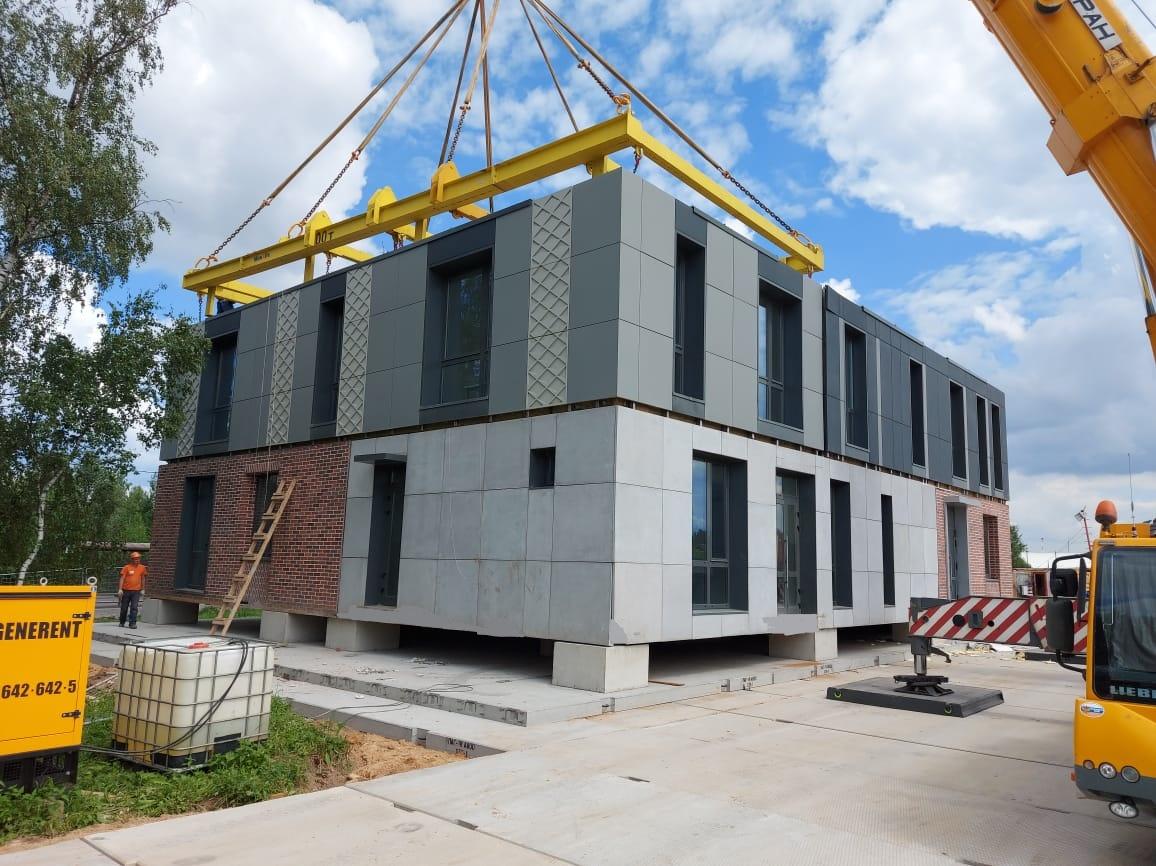 Сборка жилого дома из модулей