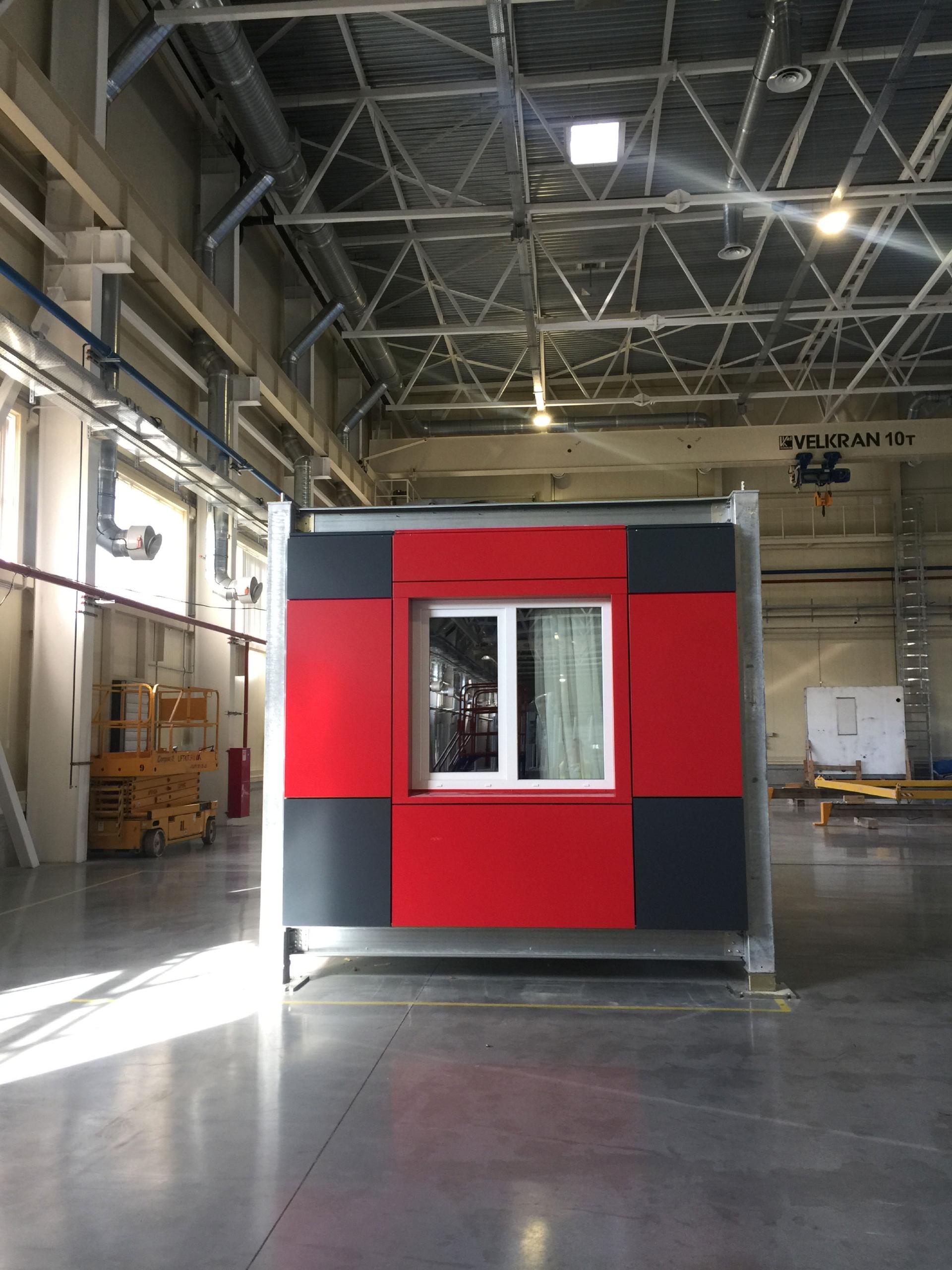 Готовый модуль на фабрике