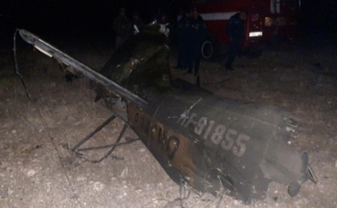 Обломки вертолета Ми-24