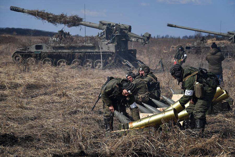 Тактические учения артиллерийских подразделений 5-й общевойсковой армии в Приморском крае