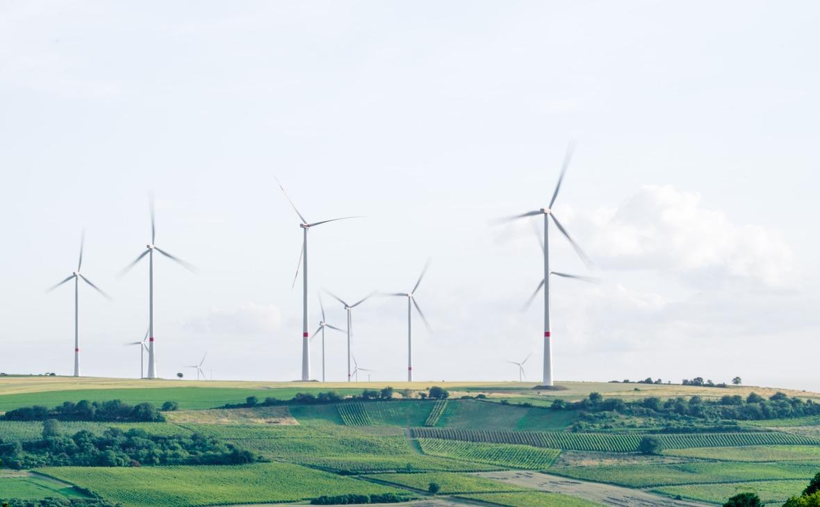 Ветряная электростанция. Мёльсхайм, Германия