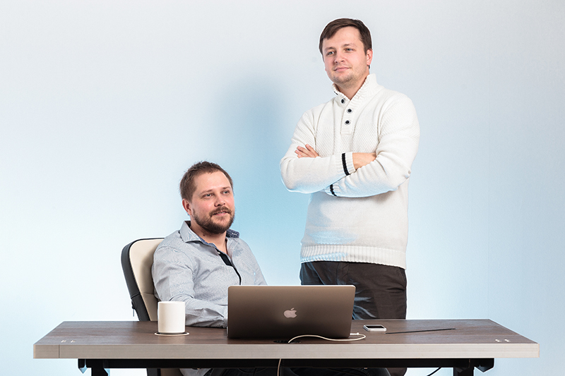 Основатель Tabula Sense Андрей Рогозин и инженер проекта Владислав Булгаков(слева направо)