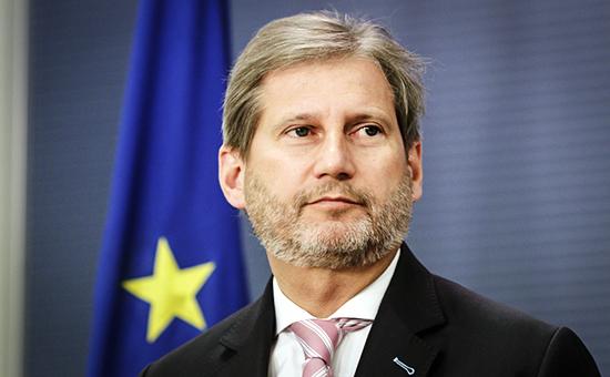 Комиссар ЕС по региональной политике Йоханнес Хан