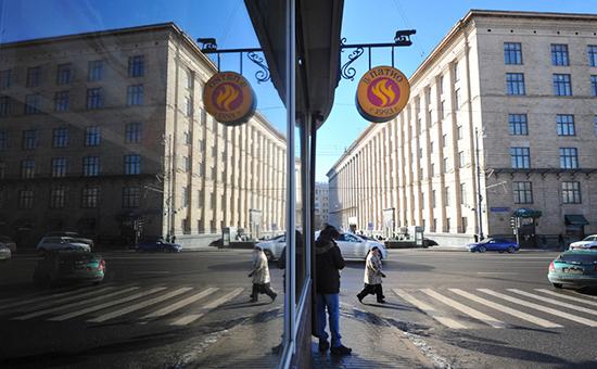 Витрина итальянского ресторана IL Патиона Тверской улице, 2015 год