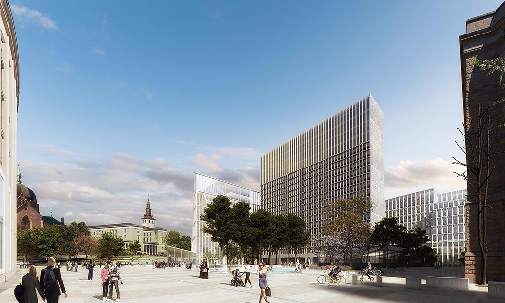 Новый центральный парк в правительственном квартале