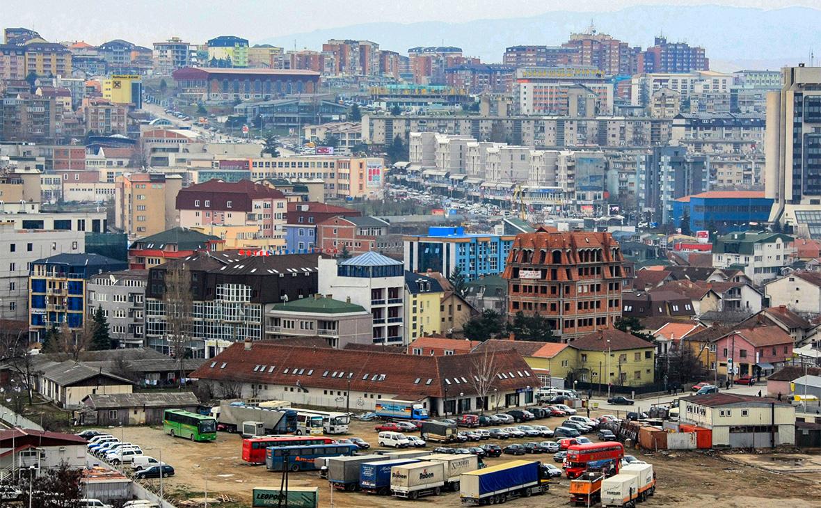 Вид на столицу Косово — Приштину