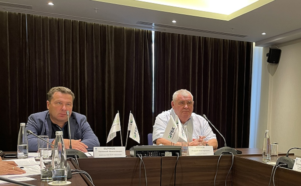 Директор ООО ТАЛП «Уфимский» Николай Бычков и директор ГК ПСК-6Андрей Носков.