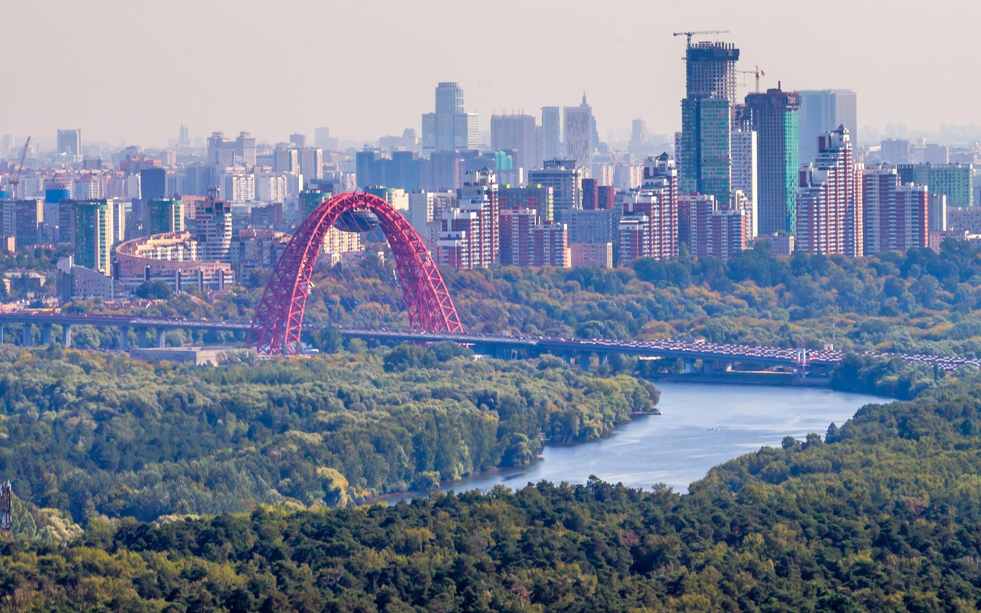 Вид на район Крылатское в Москве