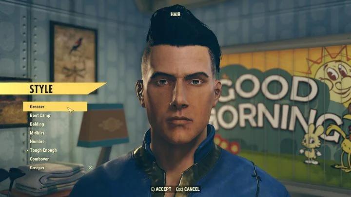 Редактор создания персонажа в мультиплеерной Action-RPG Fallout 76