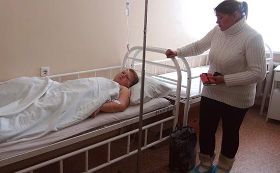 Донецк. Раненый в результате обстрела школы ребенок в центральной травматологической больнице