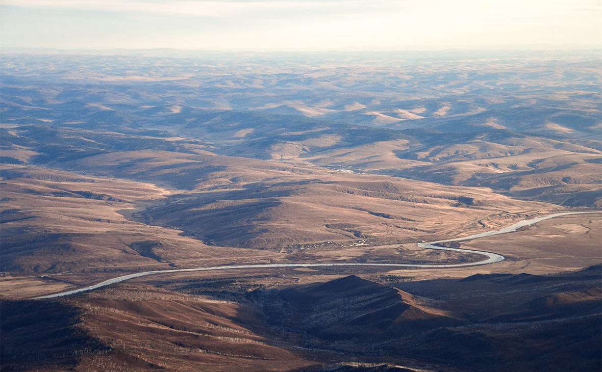 Вид на сопки в Забайкальском крае