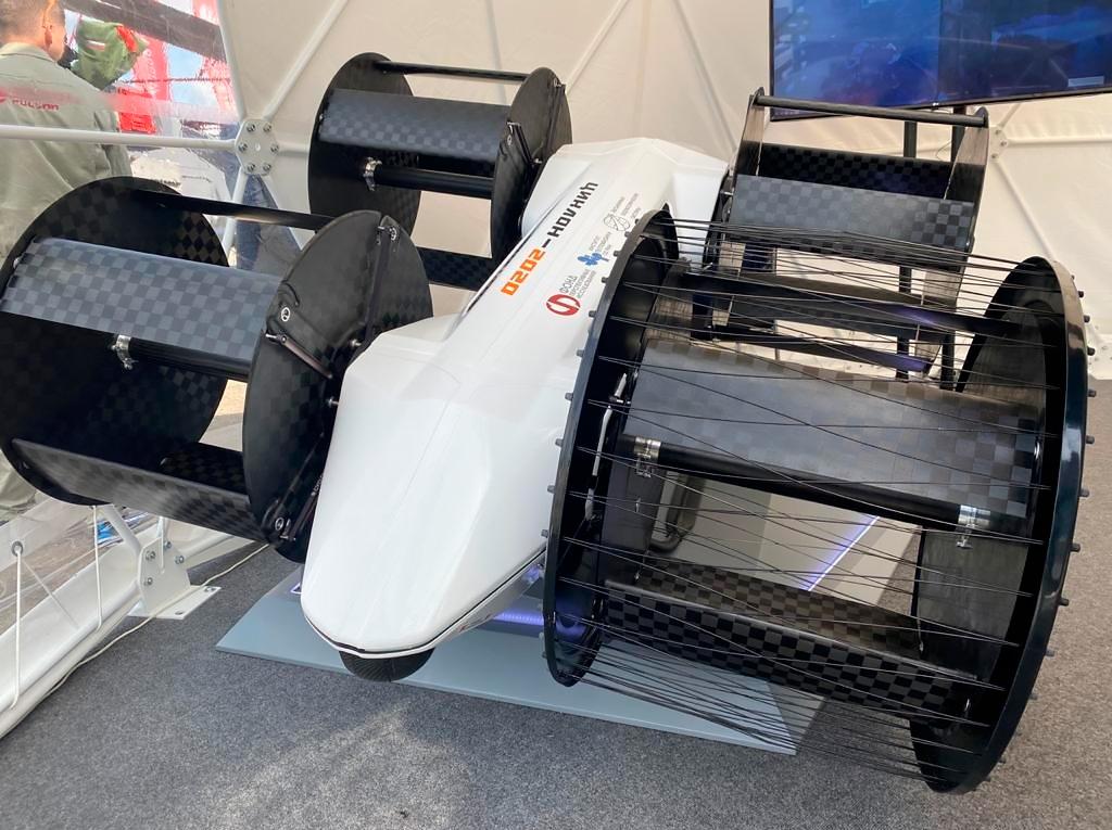 <p>Демонстратор летательного аппарата с циклическими движителями (циклолет), впервые представленный на международном форуме &laquo;Армия-2020&raquo;.</p>
