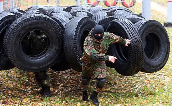 Тренировка подразделений МВД России. Архивное фото