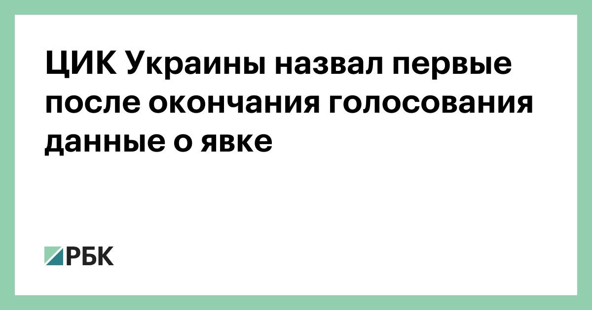 ЦИК Украины назвал первые после окончания голосования данные о явке