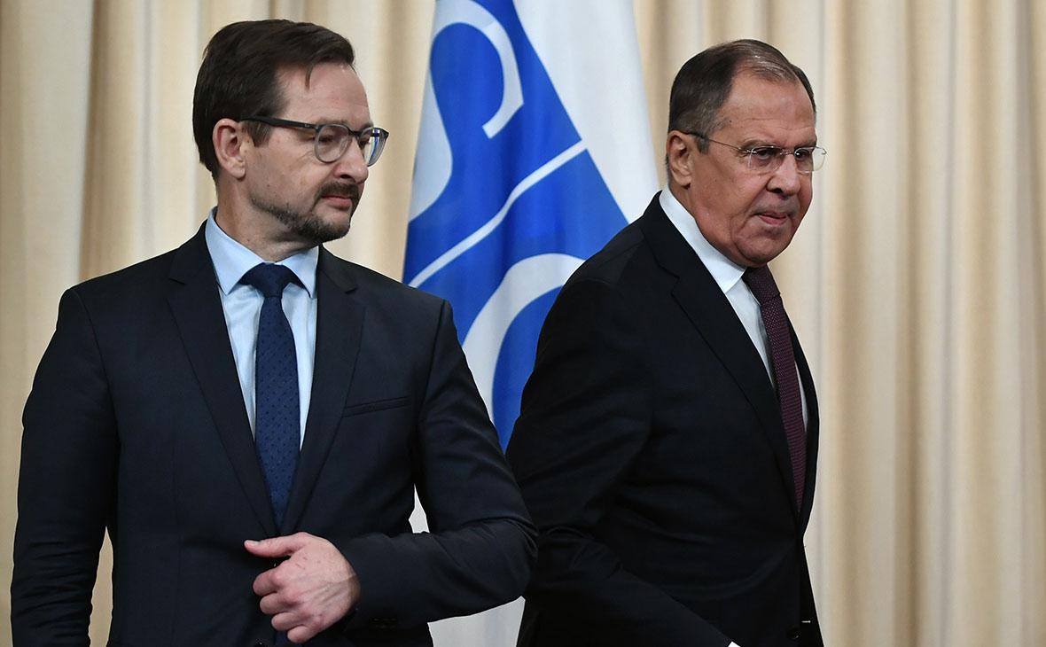 Томас Гремингер и Сергей Лавров
