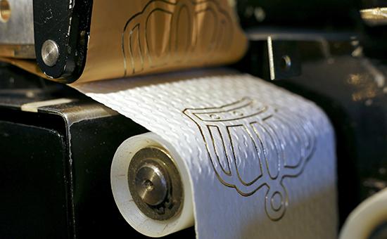 Производство туалетной бумаги с 24-каратным золотом