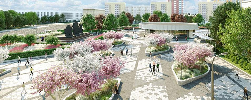 Проект благоустройства площади около станции метро «Улица 1905 года»