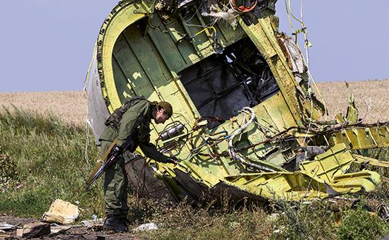 Обломки Boeing 777 рейса MH17