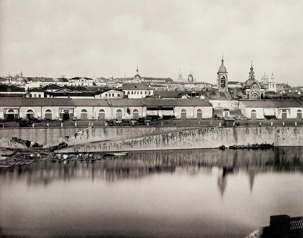 Вид на Зарядье со стороны реки.1900-е годы