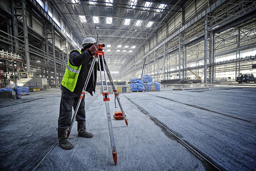 Строящийся блок корпусных производств судостроительного комплекса «Звезда»