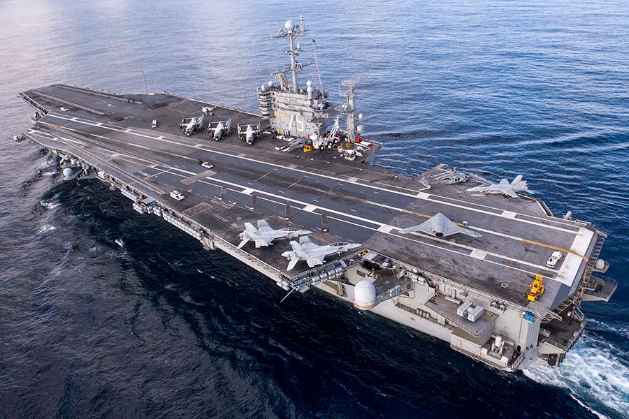 Атомоход с неограниченной дальностью плавания Harry S. Truman назван в честь 33-го президента США. Этот авианосец серии «Нимиц» спущен на воду в 1996 году и спустя два года введен в эксплуатацию. Флагманский корабль миссии базируется в порту Норфолк, штат Вирджиния. В егоавиационной группе— 90 самолетов и вертолетов. По данным издания Star and Stripes, это первая боевая миссия Harry S. Truman после десятимесячного ремонта.