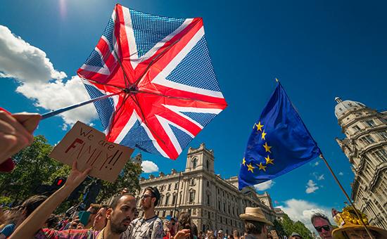 Протест в Лондоне против результатов референдума, 2 июля 2016 года