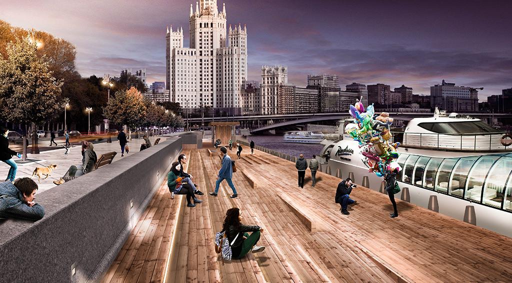 Проект благоустройства Москворецкой набережной