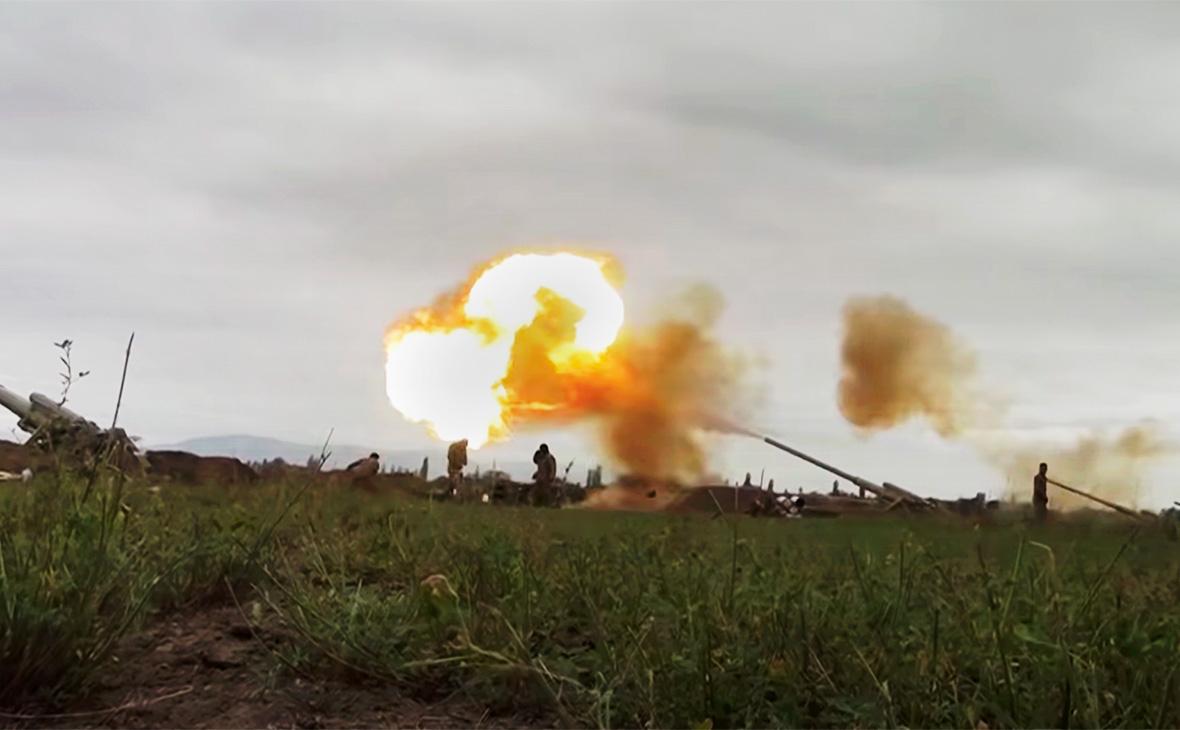 Вооружённые силы Азербайджана наносят удар артиллерийским подразделениям вооружённых сил Армениив Нагорном Карабахе