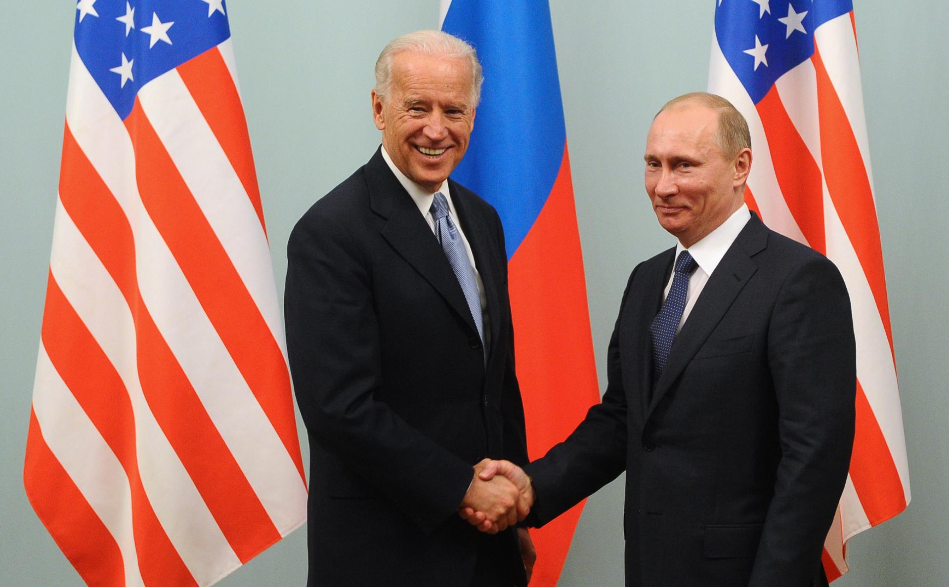 Джо Байдени Владимир Путин