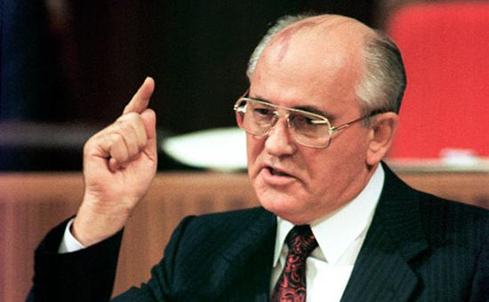 Бывший президент СССР Михаил Горбачев. 1991 год