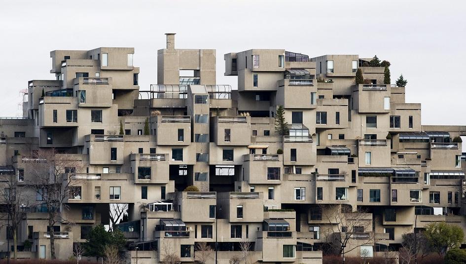 Жилой комплекс Habitat-67 Монреале