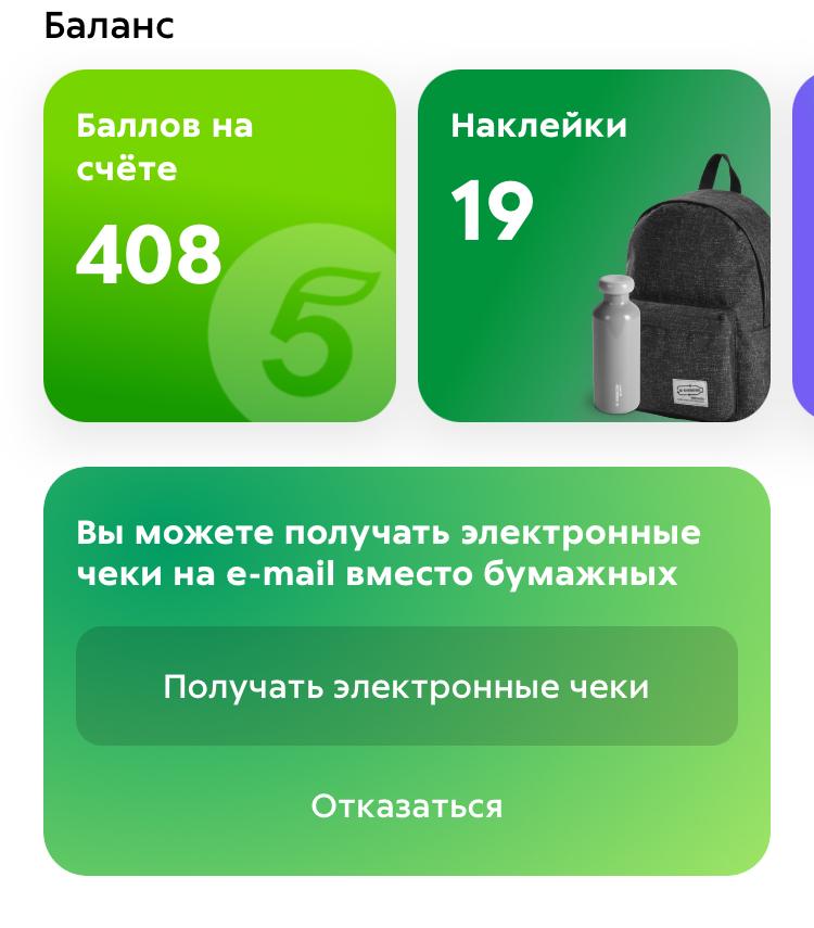 Баннер на главной странице мобильного приложения «Пятерочки»