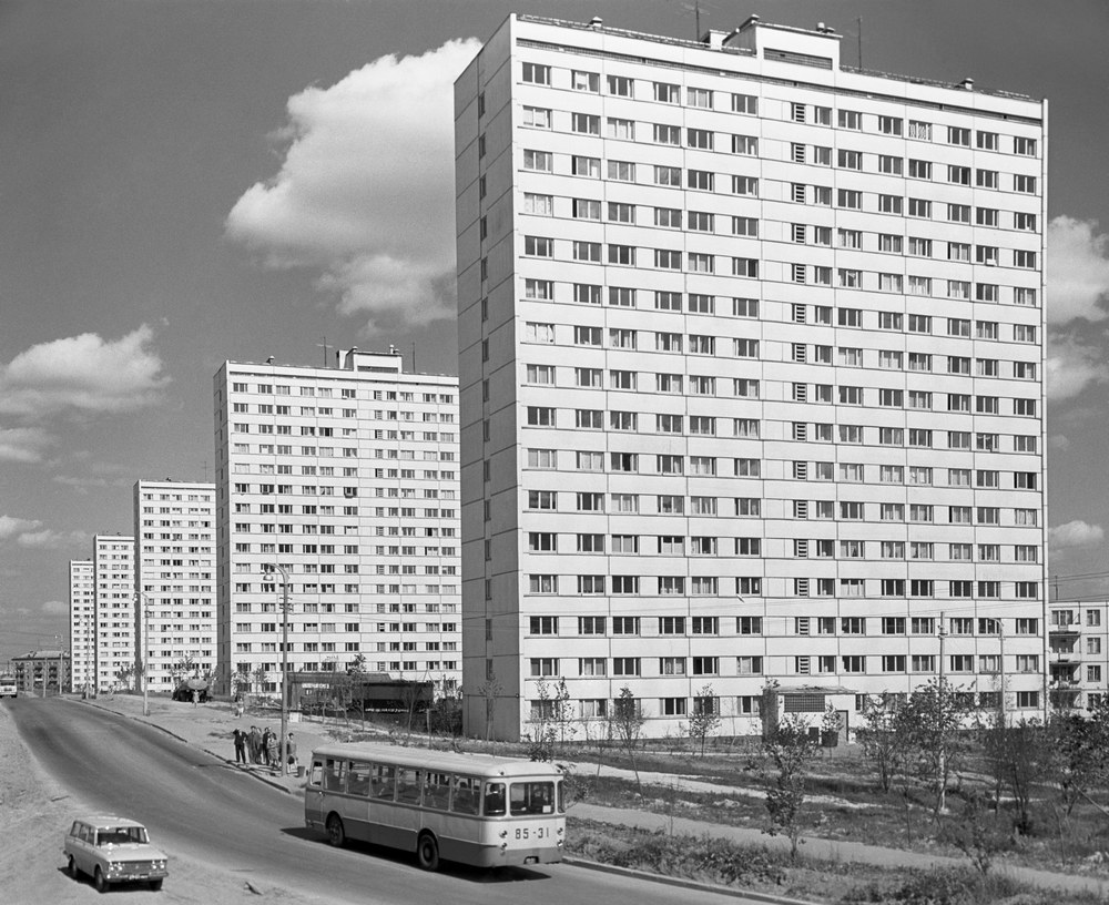 Многоэтажные дома в Кунцеве в 1969 году