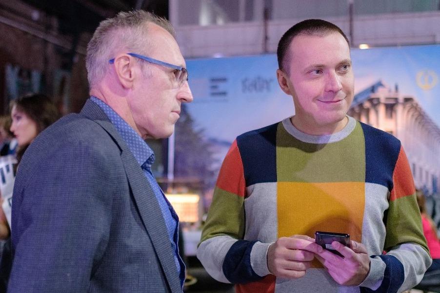 Фото:Сергей Дугин (номинант) и Алексей Лахов («Гуманитарное действие»)