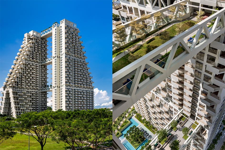 Ступенчатая структура небоскреба, прикоторой каждый следующий этаж оказывается меньше предыдущего, напоминает ракету, подготовленную квзлету