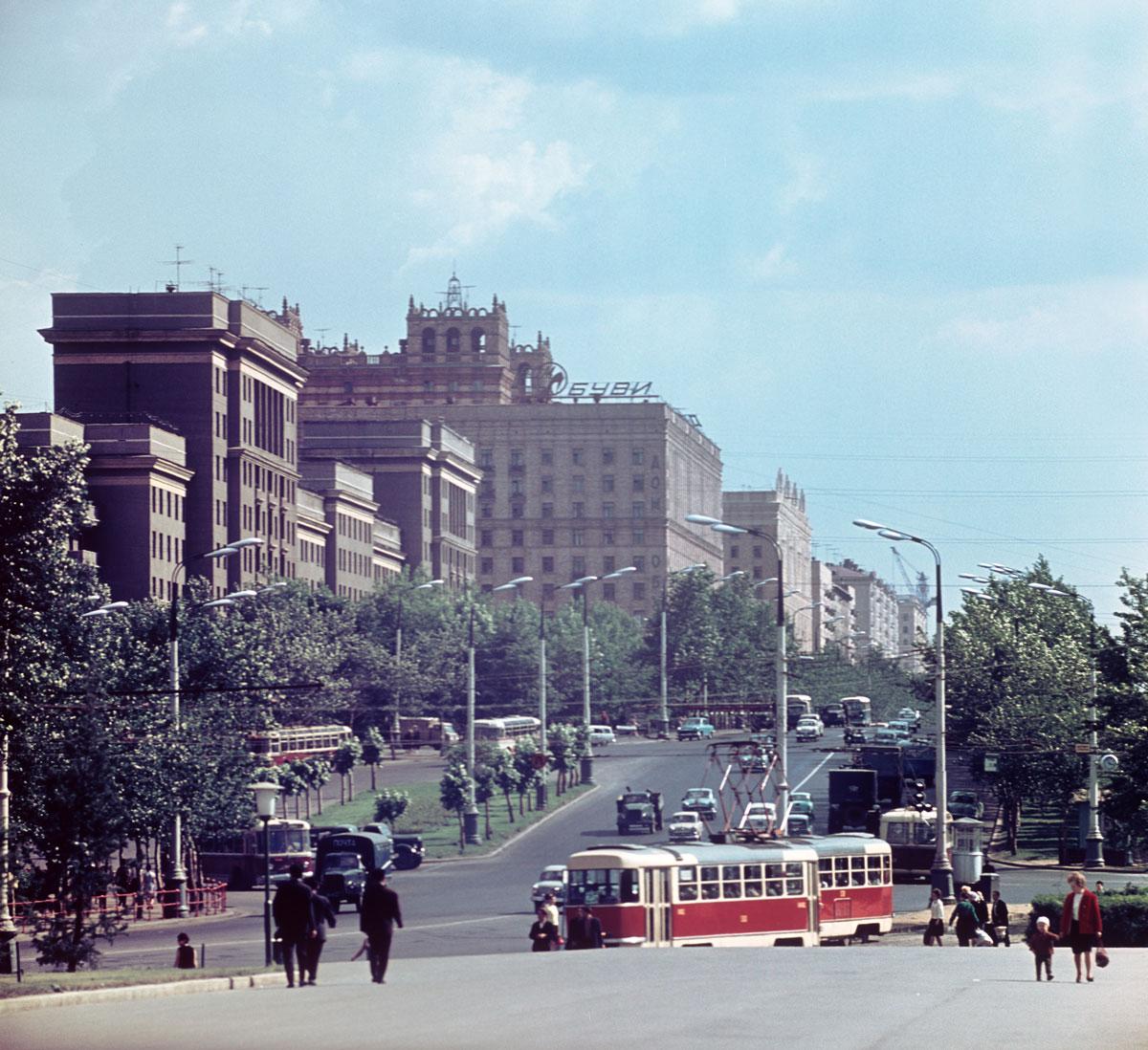 Вид на проспект Мира, 1967 год