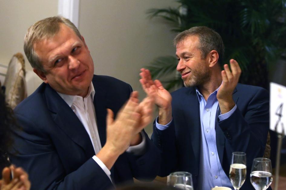 Сергей Капков и предприниматель Роман Абрамович. 2013 год