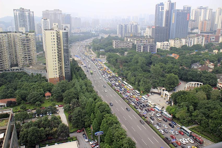 Трафик в китайском Чунцине