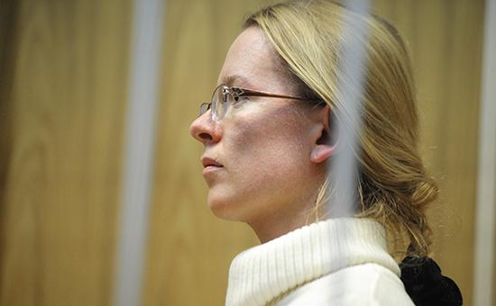 Экс-глава коммерческой организации «Центр правовой поддержки «Эксперт» Екатерина Сметанова, обвиняемая вмошенничестве поделу «Оборонсервиса»