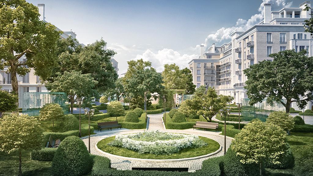 Knightsbridge Private Park   Стоимость: 410,7 млн руб. Площадь: 379 кв. м   Благоустройство частного парка — 2 га