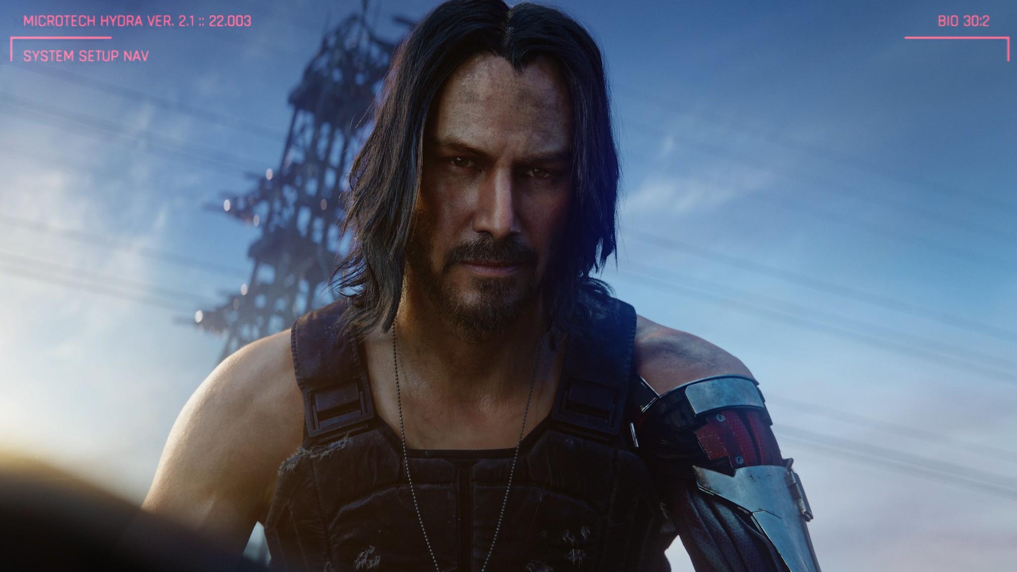 Актер Киану Ривзисполнил роль одногоиз персонажей игры Cyberpunk 2077