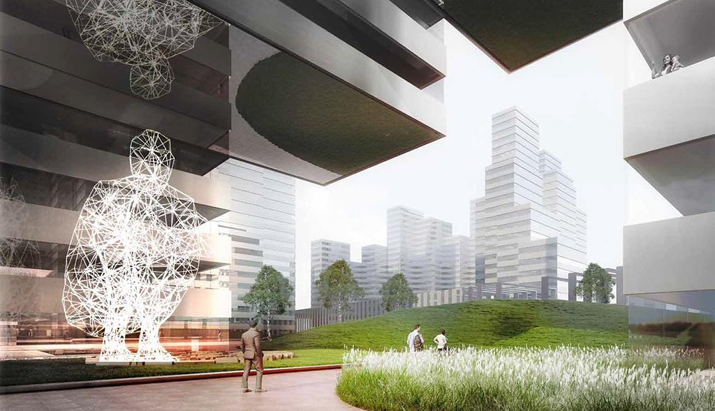 Визуализация организации общественного пространства в ЖК