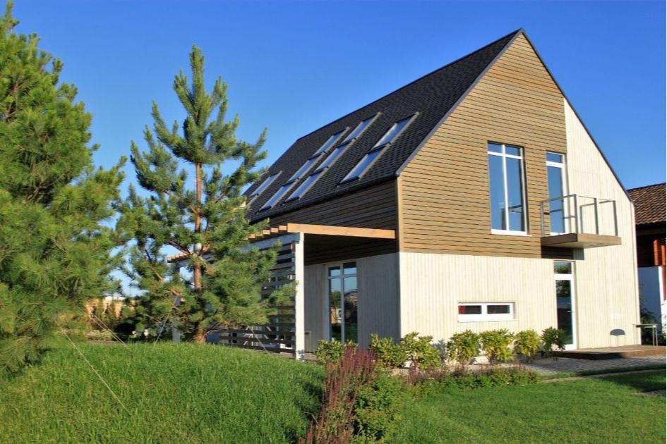 Каркасный дом в стиле barnhouse