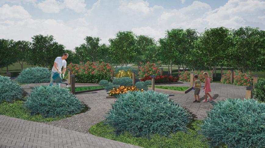 В саду появятся прогулочные зоны и современные детские игровые комплексы