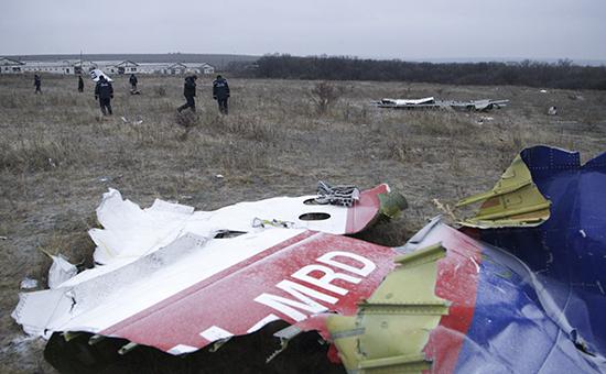 Обломки Boeing 777, потерпевшего крушение в июле 2014 года в Донецкой области