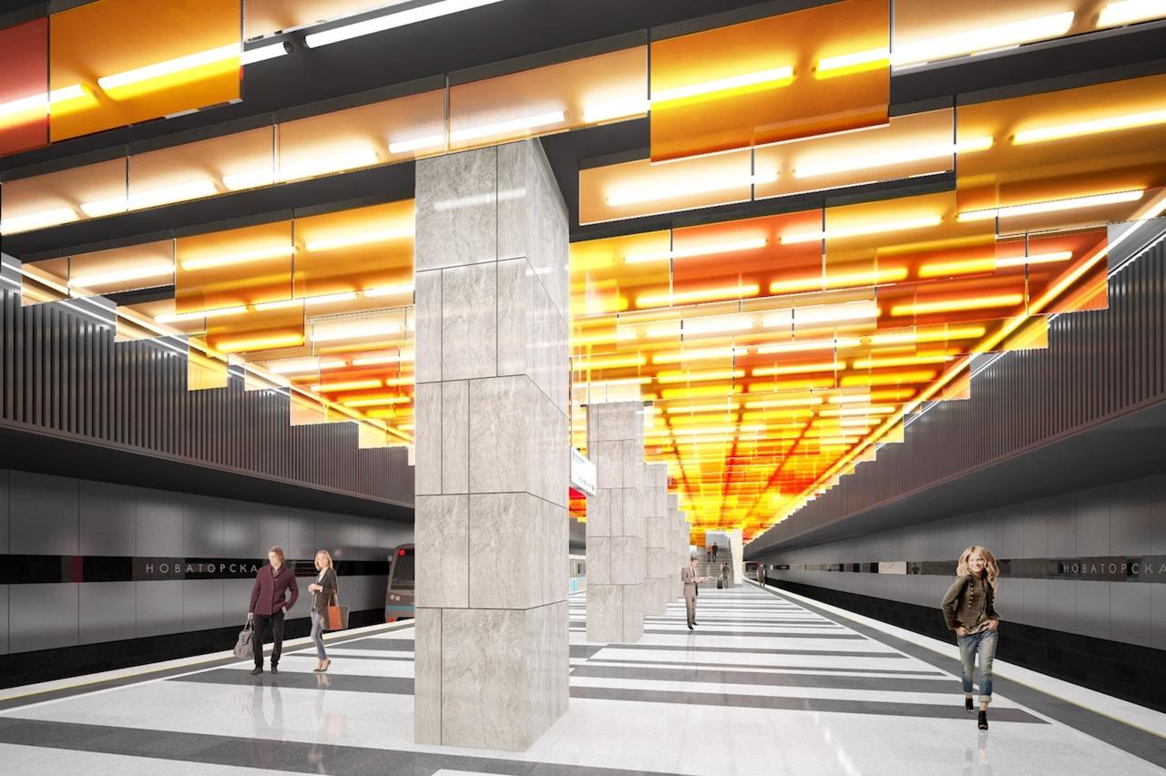 Проект станции «Новаторская»