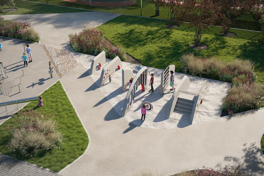Рендер площадки «Лабиринт» в строящемся West Garden